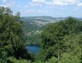 Blick vom Dronketurm auf das Gemündener Maar