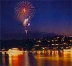 Feuerwerk über dem Rursee