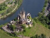 Luftbild der Reichsburg Cochem