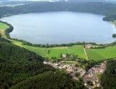 Luftbild vom Laacher See