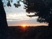 Sonnenuntergang am Horizont