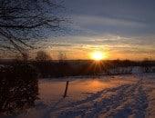 Winterwonderland in Kesternich mit Blickrichtung Dreiborn